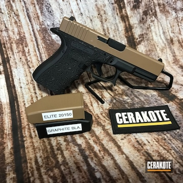 Custom Glock 19 Cerakoted Using 20150 And Graphite Black