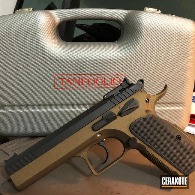 Cerakoted: S.H.O.T,9mm,Tanfoglio,Graphite Black H-146,Burnt Bronze H-148,1911