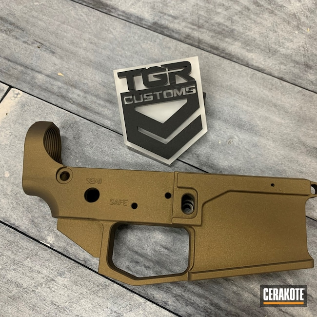 Cerakoted: S.H.O.T,Burnt Bronze H-148,AR-15,AR15 Lower