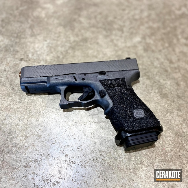 Cerakoted: S.H.O.T,Custom Glock Frame,Stippling,Tungsten H-237,Pistol,Glock,Glock 23,Frame Work,Firearms,G23,Gen 3 G23