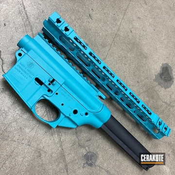 Ar Builders Set Cerakoted Using Aztec Teal