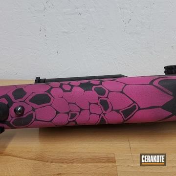 Custom Kryptek Camo Bolt Action Rifle Cerakoted Using Sig™ Pink And Armor Black