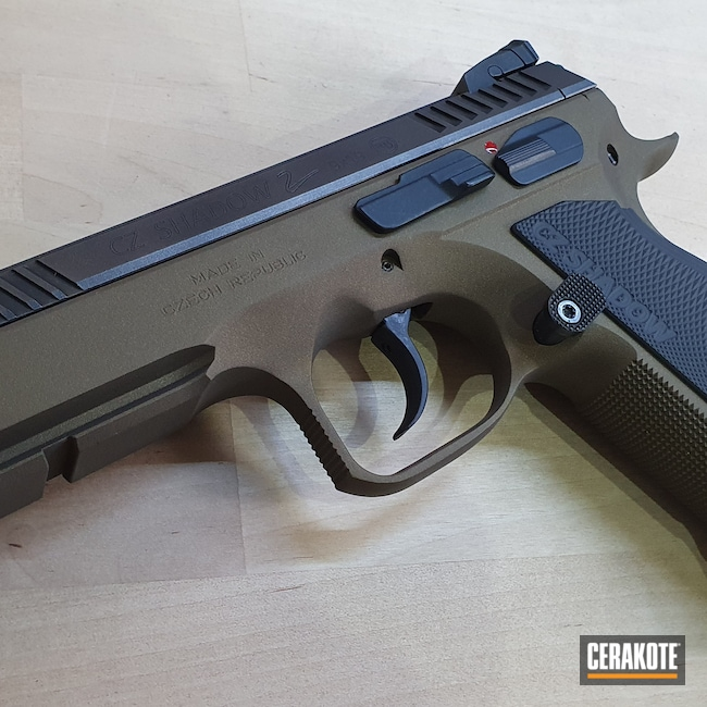Cerakoted: S.H.O.T,9mm,Shadow,Graphite Black H-146,Burnt Bronze H-148,CZ