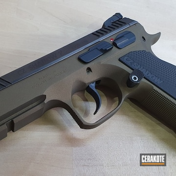 Cz Shadow 2 Cerakoted Using Graphite Black And Burnt Bronze