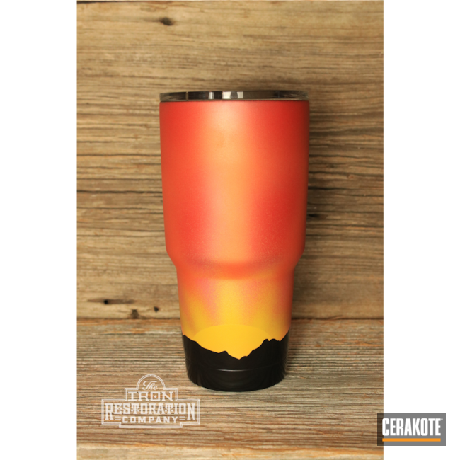 Cerakoted: TEQUILA SUNRISE H-309,BLACKOUT E-100,Night Sky,Bear,YETI Cup,YETI,SIG™ PINK H-224,HABANERO RED H-318,Custom YETI Cup,Cup,SUNFLOWER H-317,Tumbler