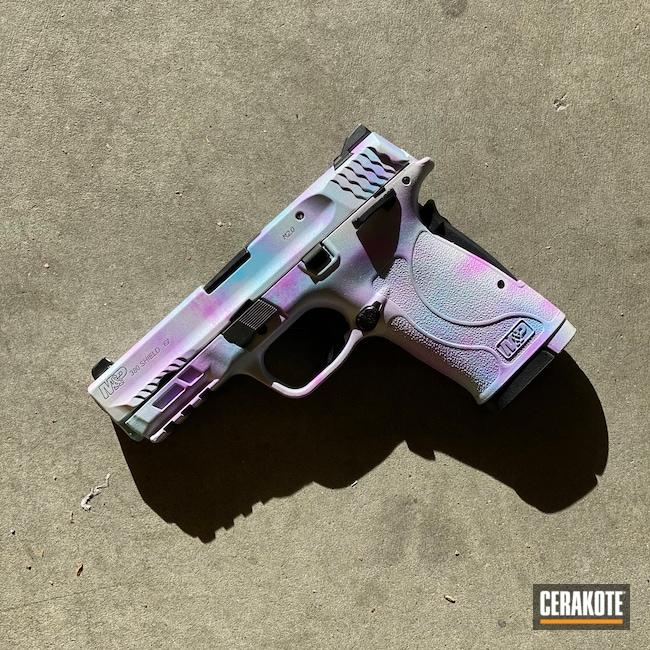 Cerakoted: S.H.O.T,380EZ,Smith & Wesson,.380,Stormtrooper White H-297,BLUE RASPBERRY H-329,.380 ACP