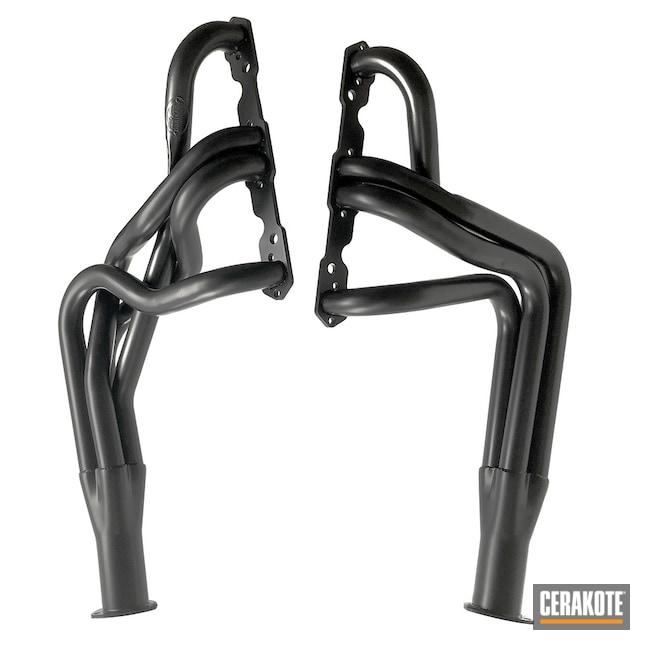 Cerakoted: Exhaust,Hooker Headers,Headers,Automotive,CERAKOTE GLACIER BLACK C-7600