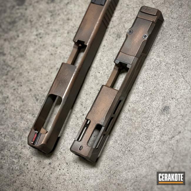 Cerakoted: S.H.O.T,Glock 19,Robin's Egg Blue H-175,Glock 34,Copper,Burnt Bronze H-148,Glock,Dirty Penny,TERRA COTTA H-325