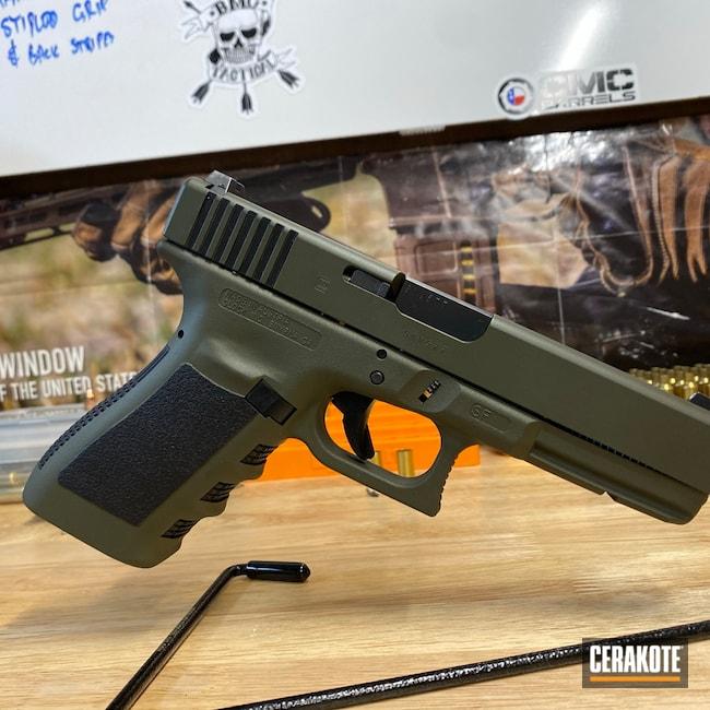 Cerakoted: S.H.O.T,Graphite Black H-146,Mil Spec O.D. Green H-240,Glock,Glock 20