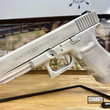 Distressed Glock 20 Cerakoted Using Armor Black And Stormtrooper White