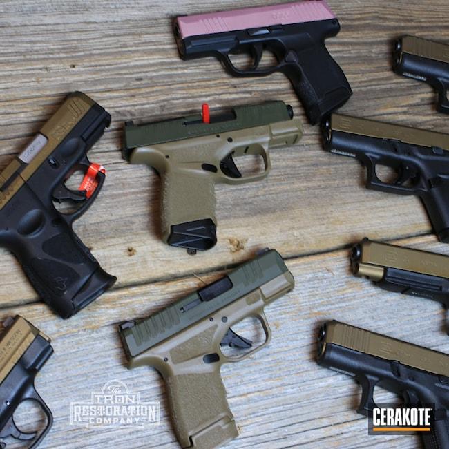 Cerakoted: S.H.O.T,M&P,Sig P365,g43x,p365,G26,Sig Sauer,O.D. Green H-236,G42,9mm,G34,Burnt Bronze H-148,Glock,Hellcat,Taurus