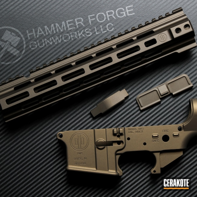 Cerakoted: S.H.O.T,Lower,Handguard,Burnt Bronze H-148,Primary Weapons Systems,Midnight Bronze H-294,AR-15