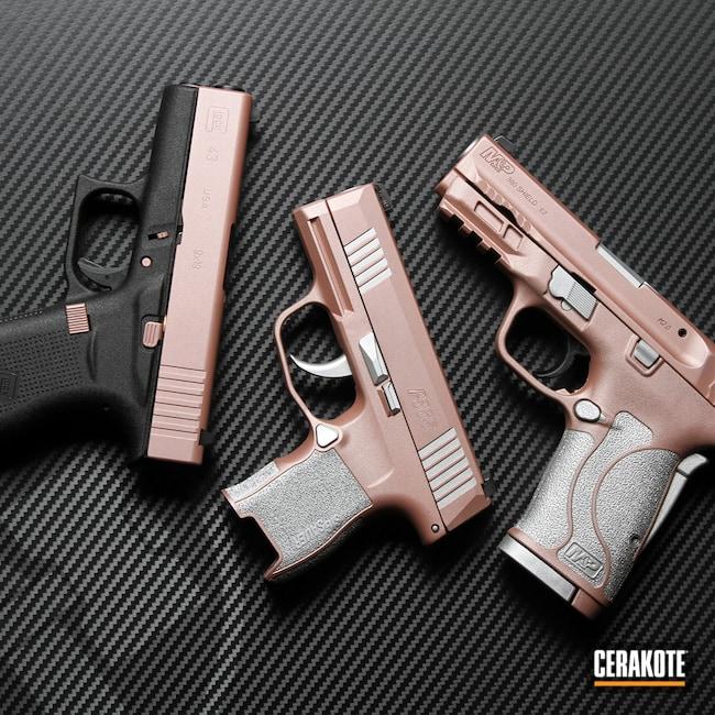 Cerakoted: S.H.O.T,Sig P365,Sig Sauer P365,p365,Smith & Wesson,Smith & Wesson M&P,Sig Sauer,Satin Aluminum H-151,Glock,ROSE GOLD H-327,Glock 43