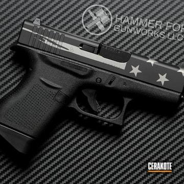 Glock 43 Cerakoted Using Titanium And Graphite Black