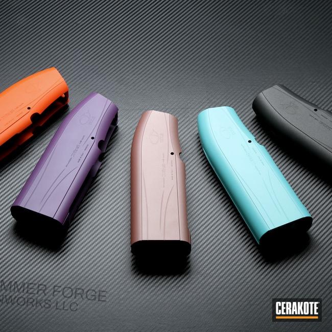 Cerakoted: S.H.O.T,Semi-Auto Shotgun,Robin's Egg Blue H-175,Shotgun,Bright Purple H-217,Tungsten H-237,ROSE GOLD H-327,HI-VIS ORANGE H-346