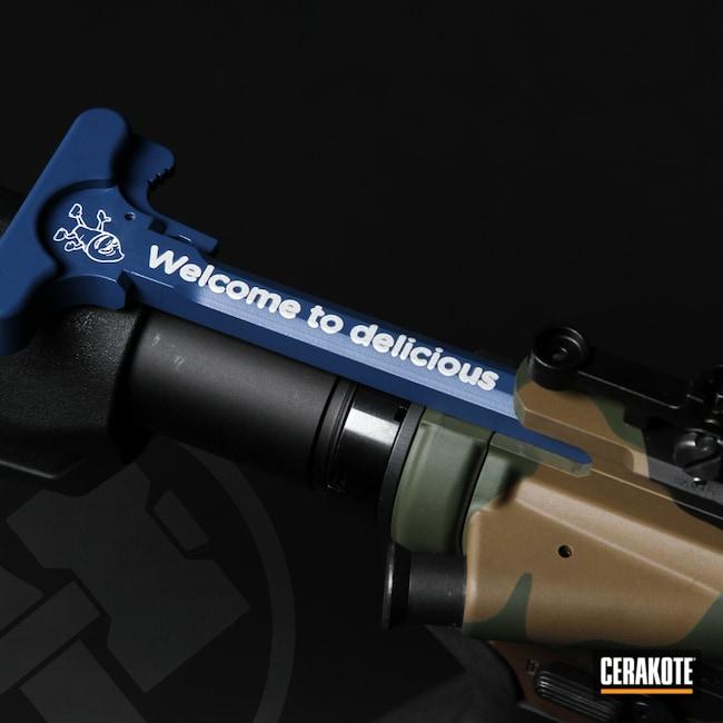 Cerakoted: S.H.O.T,NRA Blue H-171,Charging Handle,Culvers,KEL-TEC® NAVY BLUE H-127,Laser Engrave