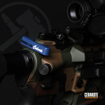 Charging Handle Cerakoted Using Kel-tec® Navy Blue And Nra Blue