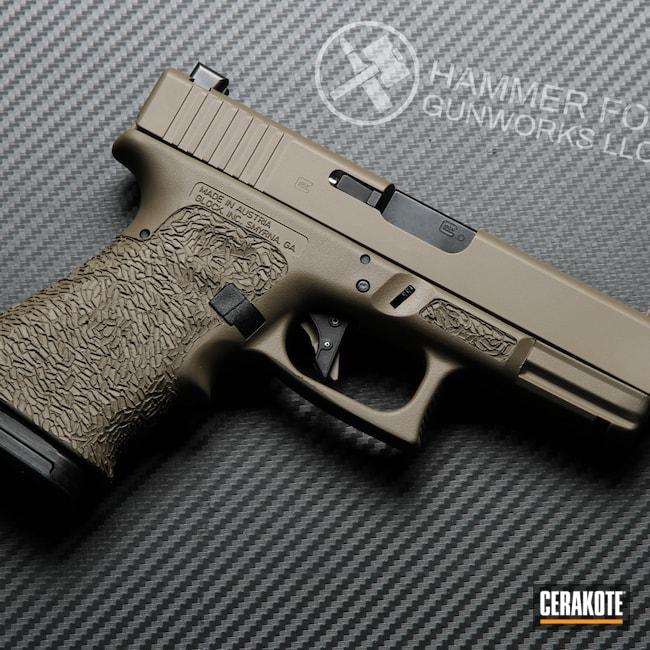Cerakoted: S.H.O.T,MAGPUL® FLAT DARK EARTH H-267,Stippled,Glock,Glock 23