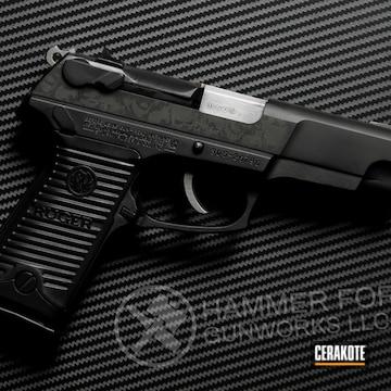 Ruger Pistol Cerakoted Using Graphite Black