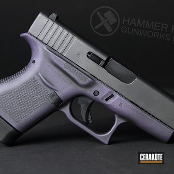 Glock 43 Cerakoted Using Purplexed, Graphite Black And Bright Purple