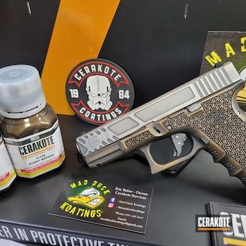 Glock 19 Cerakoted Using Armor Black And Burnt Bronze
