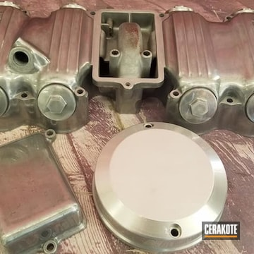 Yamaha Motorcycle Valve Cover And Parts Cerakoted Using Cerakote Clear - Aluminum
