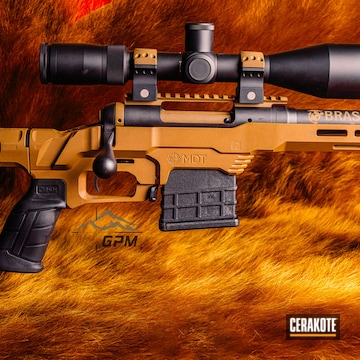 Mtd Lss Chassis System, Scope And Barrel Cerakoted Using Graphite Black And Flat Dark Earth