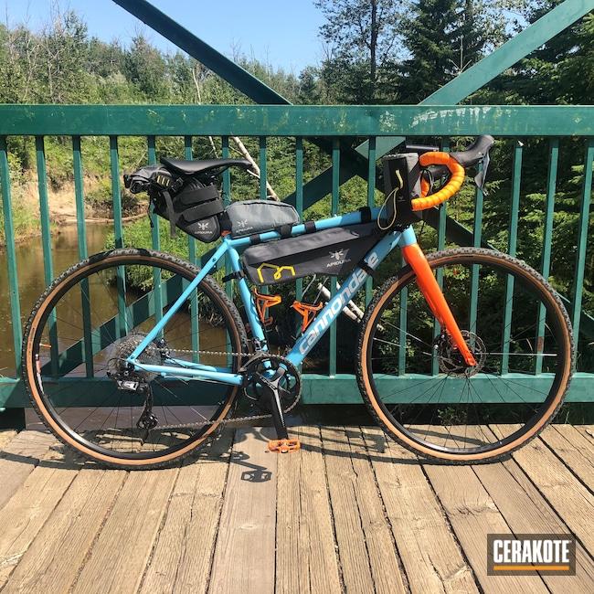 Cerakoted: Bright White H-140,Bike Frame,Topstone,Robin's Egg Blue H-175,Cannondale Bikes,Hunter Orange H-128