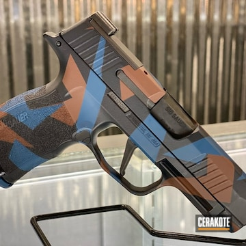 Splinter Camo Sig Sauer P365 Cerakoted Using Multicam® Dark Brown And Sig™ Dark Grey