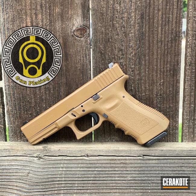 Cerakoted: S.H.O.T,Glock 19,9mm,TROY® COYOTE TAN H-268,Glock,Glock 17,Glock 22,G17