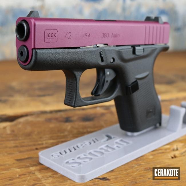 Cerakoted: S.H.O.T,Glock 42,BLACK CHERRY H-319,.380,Pistol,Glock,Handgun