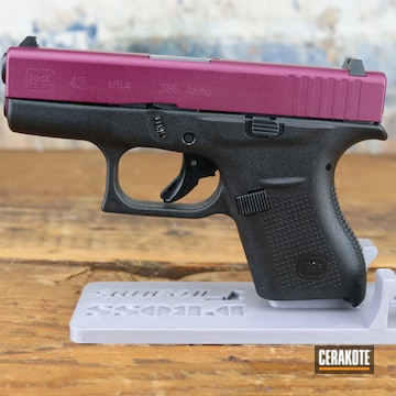 Glock 42 Cerakoted Using Black Cherry