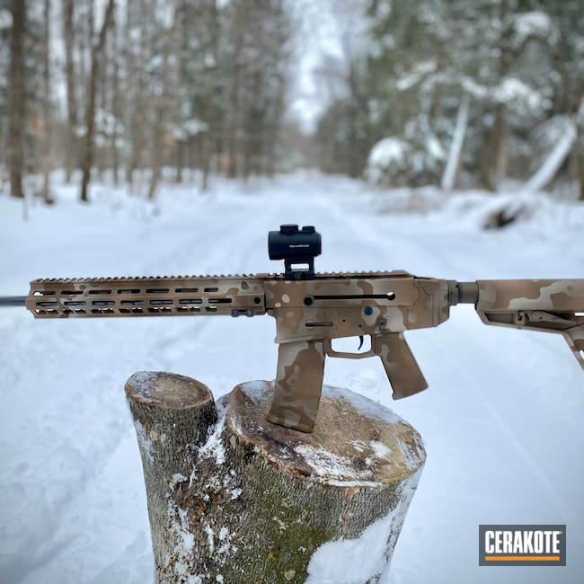 Cerakoted: S.H.O.T,Rifle,WC180,Kodiak Defence,Desert Sage H-247,MAGPUL® FLAT DARK EARTH H-267,TROY® COYOTE TAN H-268,.223,Midnight Bronze H-294,Custom Camo,GLOCK® FDE H-261