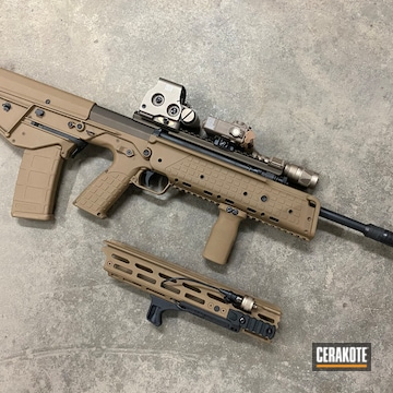 Kel Tec Rdb Bullpup Rifle Cerakoted Using Troy® Coyote Tan And Midnight Bronze