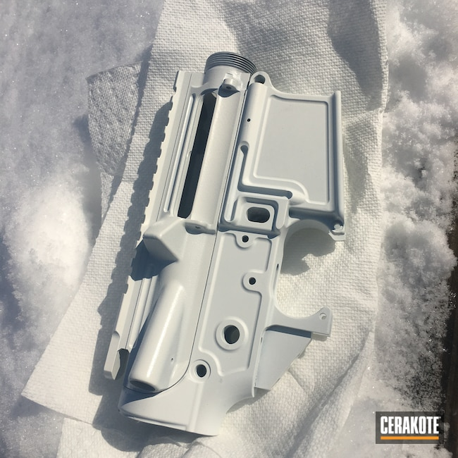 Cerakoted: S.H.O.T,Upper / Lower,AR Lower Receiver,Anderson Mfg.,Bright White C-140
