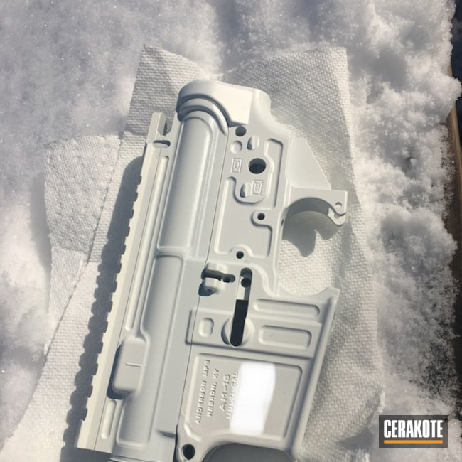 Anderson Manufacturing Ar Lower And Upper Cerakoted Using Bright White