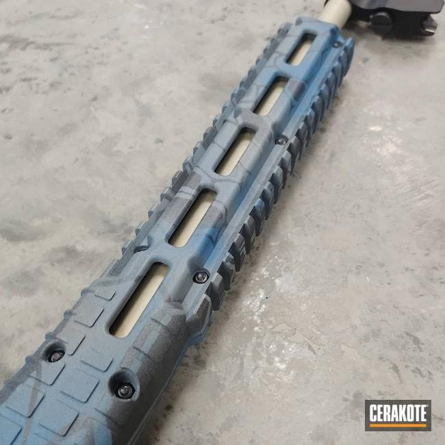 Cerakoted: S.H.O.T,Graphite Black H-146,Ridgeway Blue H-220,Bull Shark Grey H-214,Bright Nickel H-157,Gold H-122
