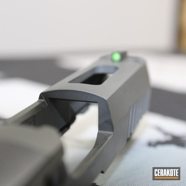 Cerakoted: S.H.O.T,Sig P320,Gun Slide,P320,Sig Sauer,Sig,Pistol Slide,SIG™ DARK GREY H-210,Slide