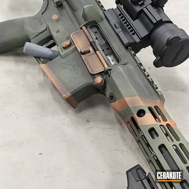 Cerakoted: S.H.O.T,Aero Precision,COPPER H-347,AR Pistol,Graphite Black H-146,.223,5.56,MULTICAM® DARK GREEN H-341