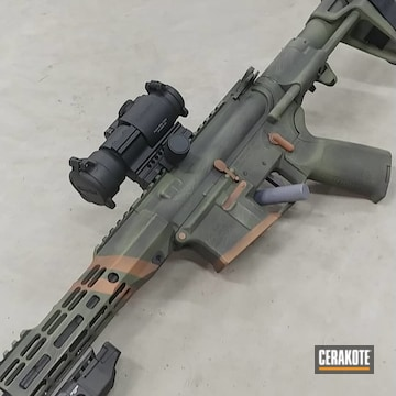 Aero Precision Ar Build Cerakoted Using Graphite Black, Copper And Multicam® Dark Green