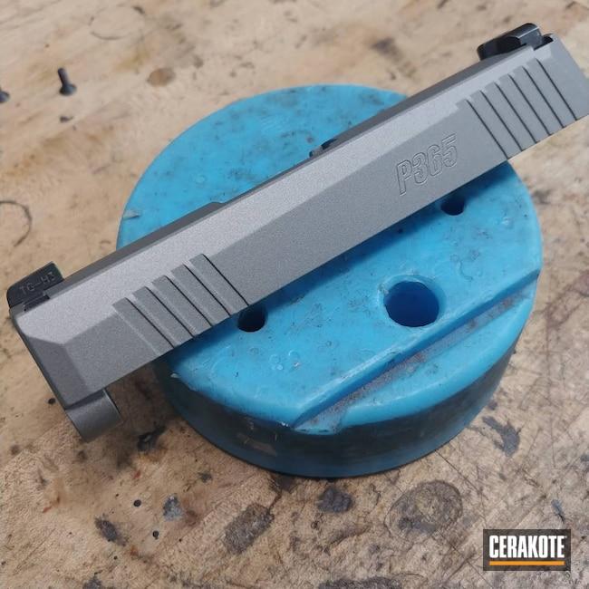 Cerakoted: S.H.O.T,9mm,Sig P365,Titanium H-170,Pistol,Sig Sauer,Sig,SIGP365