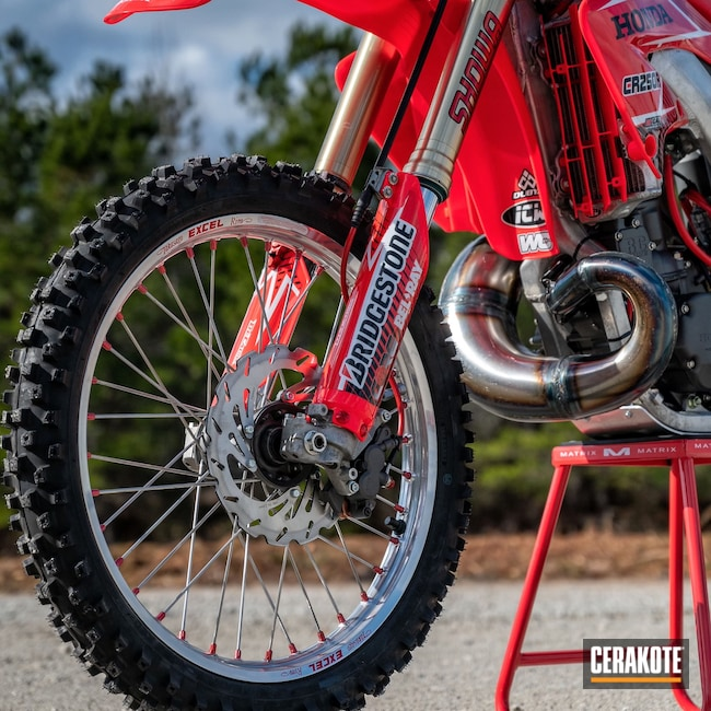Cerakoted: CR250R,Motocross,Tungsten H-237,Automotive,Honda,Motorcycle