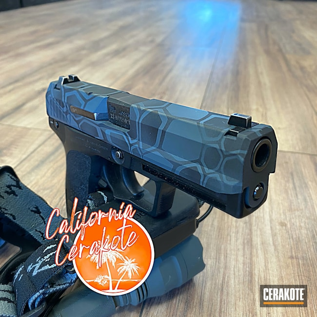 Cerakoted: S.H.O.T,Camo,KEL-TEC® NAVY BLUE H-127,Jesse James Civil Defense Blue H-401,Christopher Miller,california cerakote