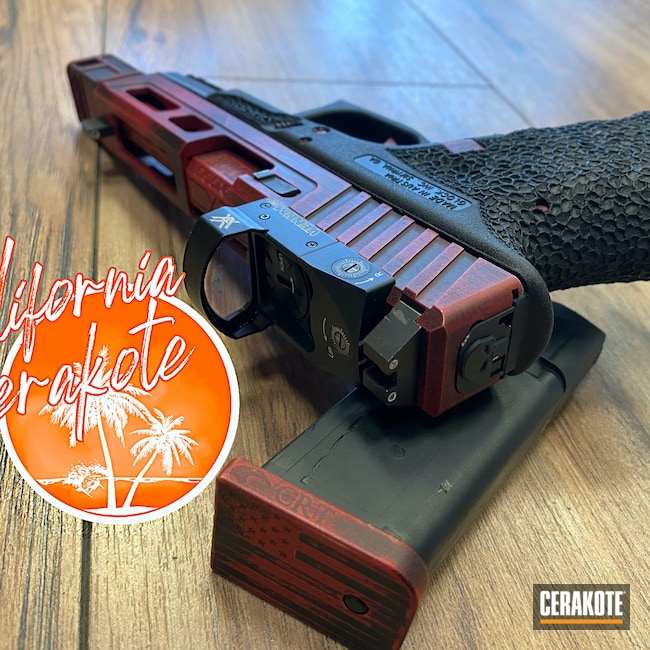 Cerakoted: S.H.O.T,Battleworn,Graphite Black H-146,Crimson H-221,Glock,Christopher Miller,california cerakote