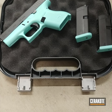 Glock 42 Cerakoted Using Robin's Egg Blue