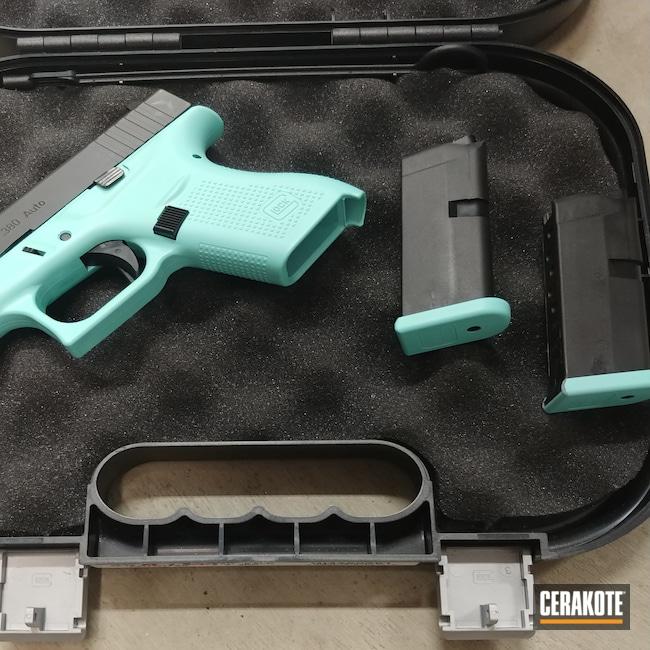 Cerakoted: S.H.O.T,Glock 42,Robin's Egg Blue H-175,.380,Pistol,G42