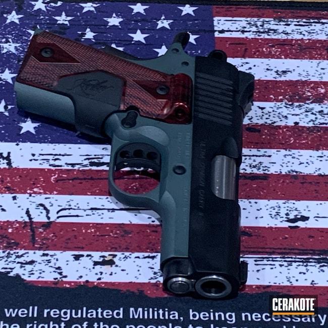 Cerakoted: S.H.O.T,9mm,Graphite Black H-146,Kimber,Pistol,Kimber Micro,CHARCOAL GREEN H-338