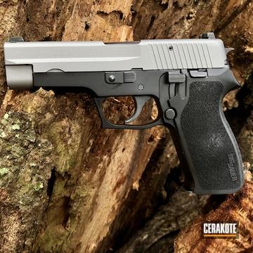 Sig Sauer P220 Cerakoted Using Titanium