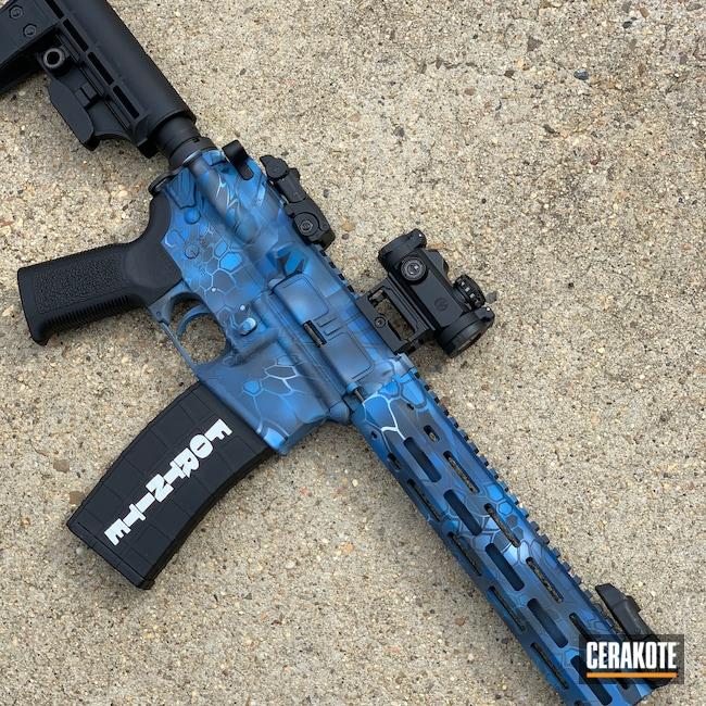 Cerakoted: S.H.O.T,Sea Blue H-172,Kryptek,AR Pistol,M4 Colt Carbine,.22LR,Tippmann,Custom Camo,AR-15