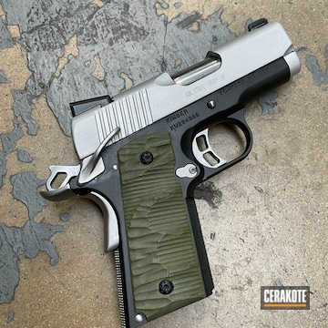 Kimber 1911 Pistol Cerakoted Using Satin Aluminum And Graphite Black